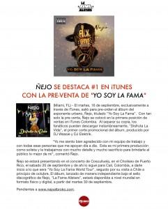 Ñejo Se Destaca #1 En iTunes Con La Preventa de (Yo Soy La Fama)