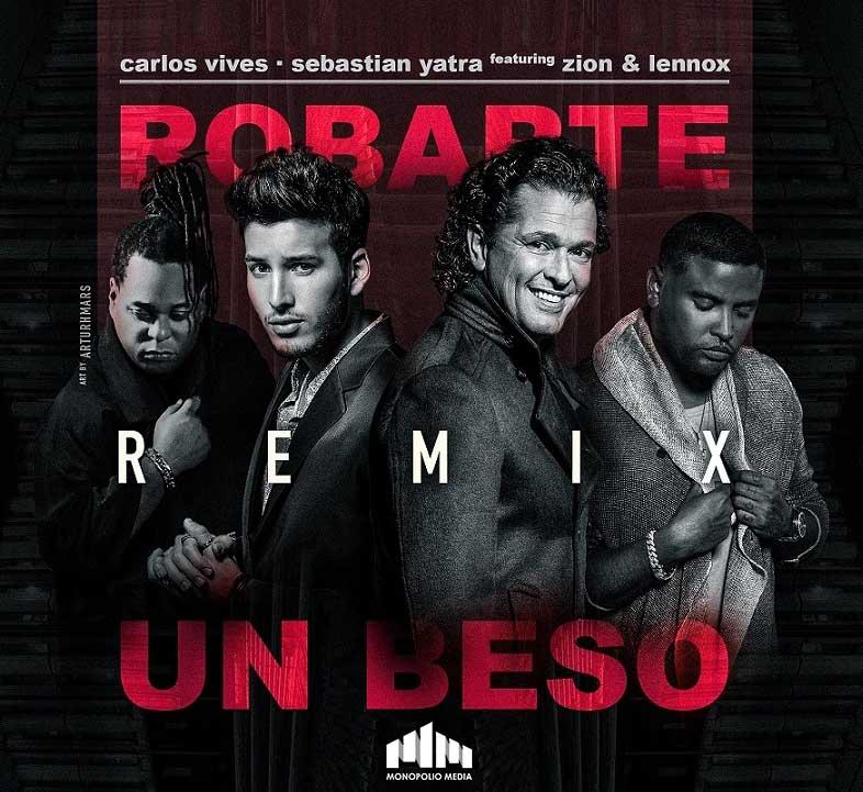 Carlos Vives Ft. Sebastian Yatra, Zion y Lennox – Robarte Un Beso Remix